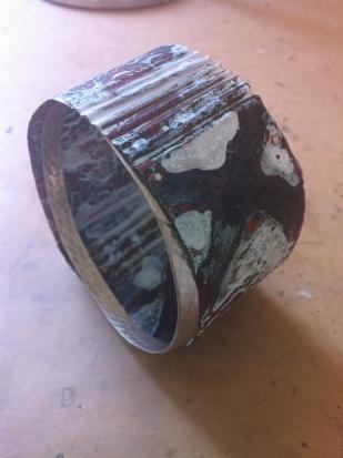 enamel silver copper bangle
