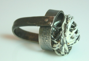 Silver,enamel,steel fingerware